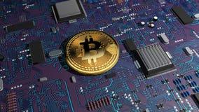 Bitcoin, crypto waluta, elektroniczny pieniądze, wirtualna waluta, przemiany Zdjęcia Stock