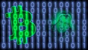 Bitcoin, crypto waluty i wirtualny na całym świecie płatniczy system, Zdjęcia Stock