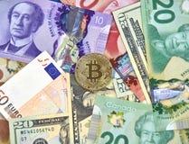Bitcoin cryptocurrency硬币 库存照片