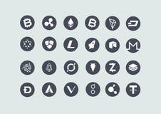 Bitcoin Cryptocurrency象汇集集合 库存照片