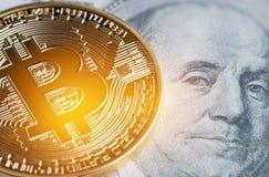 Bitcoin, Cryptocurrency è moderno del pagamento lunedì di Digital di scambio Immagine Stock