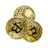 Bitcoin Cryptocurrency που απομονώνεται στο άσπρο υπόβαθρο Επιχείρηση ομο στοκ εικόνα