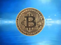 Bitcoin cryptocurrency Royaltyfri Bild