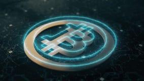 Bitcoin cryptocurrency animacja ilustracji