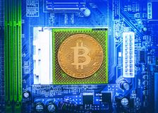 Bitcoin Cryptocurrency begrepp Arkivbild