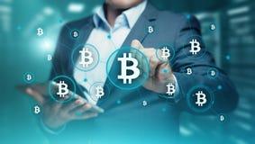 Bitcoin Cryptocurrency Cyfrowego kawałka monety BTC waluty technologii Biznesowy Internetowy pojęcie zdjęcie stock