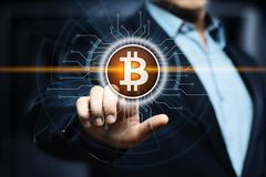 Bitcoin Cryptocurrency Cyfrowego kawałka monety BTC waluty technologii Biznesowy Internetowy pojęcie Obrazy Stock