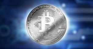 Bitcoin Cryptocurrency Digital Bit Business concept, Innovation Computer Data Technology,Cryptocurrency future background. Bitcoin Cryptocurrency Digital Bit stock illustration