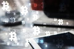 Bitcoin cryptocurrency. Financial technology. Internet money. Business concept. Bitcoin cryptocurrency Financial technology. Internet money. Business concept Stock Photo
