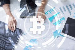 Bitcoin cryptocurrency. Financial technology. Internet money. Business concept. Bitcoin cryptocurrency Financial technology. Internet money. Business concept Stock Images