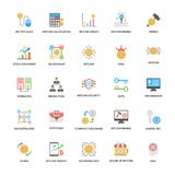 Bitcoin and Cryptocurrency Flat Icons Collection vector illustration