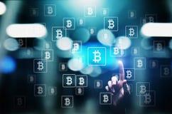 Bitcoin-cryptocurrency Handel und Investitionskonzept Finanztechnologie, Fintech und digitales Geld stockfotos