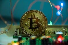 Bitcoin, Cryptocurrency i elektronika/ zdjęcie royalty free