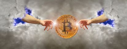 Bitcoin cryptocurrency inception digital currency stock photos