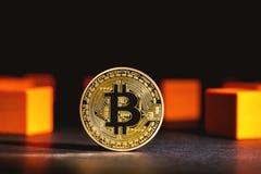 Bitcoin-cryptocurrency Münze Stockbild
