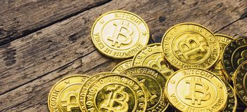 Bitcoin - Cryptocurrency Market Capitalizations stock image