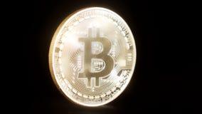 Bitcoin cryptocurrency monety obracania 4k postanowienie ilustracji