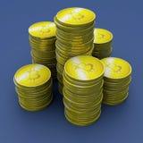 Bitcoin, cryptocurrency, soldi elettronici, valuta virtuale, transizioni Fotografia Stock Libera da Diritti
