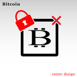 Bitcoin cryptocurrency square logo Stock Images