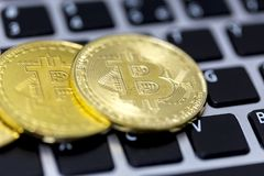 Bitcoin is a cryptocurrency and worldwide payment system. It is the first decentralized digital currency, as the system works wit. Hout a central bank or single royalty free stock photo