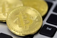 Bitcoin is a cryptocurrency and worldwide payment system. It is the first decentralized digital currency, as the system works wit. Hout a central bank or single stock images