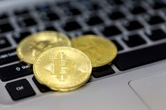 Bitcoin is a cryptocurrency and worldwide payment system. It is the first decentralized digital currency, as the system works wit. Hout a central bank or single royalty free stock photography