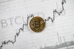 Bitcoin cryptography changes Royalty Free Stock Photography