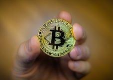 Bitcoin currency coin Stock Photos