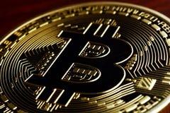 Bitcoin currency macro Stock Photo
