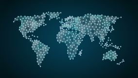 Bitcoin currency sign makes global world map, internet of things. financial technology.1. Bitcoin currency sign makes global world map, internet of things stock video footage