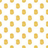 Bitcoin currency symbol pattern, cartoon style. Bitcoin currency symbol pattern. Cartoon illustration of bitcoin currency symbol vector pattern for web Royalty Free Stock Photos