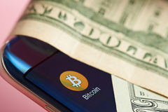 Bitcoin currency system Royalty Free Stock Photography