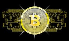 Bitcoin cyfrowy pojęcie Zdjęcie Royalty Free