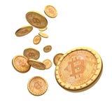 Bitcoin 3d背景 免版税图库摄影