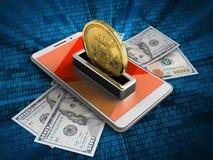 bitcoin 3d Foto de Stock