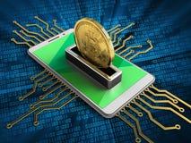 bitcoin 3d Royaltyfri Bild