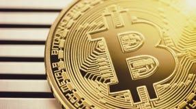 Bitcoin d'or Photos stock