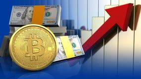 bitcoin 3d ilustração stock