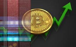 bitcoin 3d Imagenes de archivo