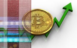 bitcoin 3d illustrazione di stock