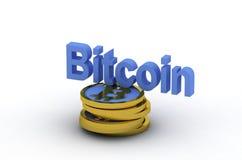 Bitcoin 3d Imagem de Stock Royalty Free