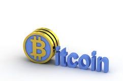 Bitcoin 3d Fotos de Stock