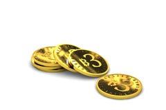 Bitcoin 3d Fotografia de Stock