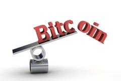 Bitcoin 3d Imagem de Stock