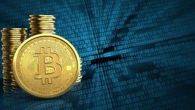 bitcoin 3d illustration stock