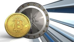 bitcoin 3d Images stock