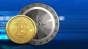 bitcoin 3d libre illustration
