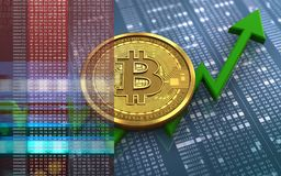 bitcoin 3d Fotos de Stock Royalty Free