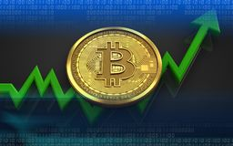 bitcoin 3d Стоковое Фото