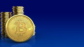 bitcoin 3d Photographie stock